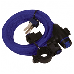 Cable Lock 12mm x 1800mm Blue OF245