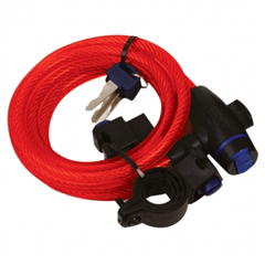 Cable Lock 12mm x 1800mm Red OF249